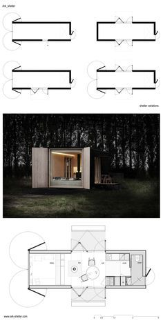 cabin, architecture, ark shelter, shelter, visualization, mobile architecture, cottage, container