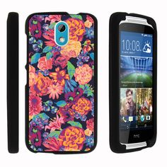 HTC Desire 526G Case SNAP SHELL 3 IN 1 Combo - Slim Hard Fitted Case - Floral Dream