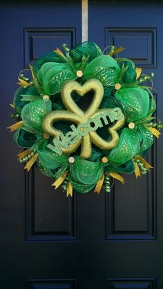Free Shipping! St. Patrick's Day mesh wreath