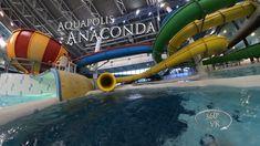 Napfényfürdő Aquapolis Szeged Anaconda (yellow waterslide) VR POV O. Anaconda, Water Slides, Vr, Yellow, Green Anaconda, Gold
