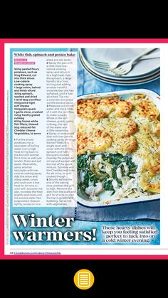 Slimming world white fish, spinach and potato bake Grilled Fish, Baked Fish, Cod Fish Recipes, Fish Varieties, How To Cook Fish, White Meat, Slimming World Recipes, Spinach, Meat Products