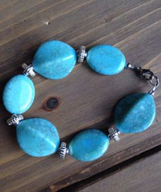 Country Chic Turquoise Bracelet by BecksCustomCreations on Etsy, $15.00