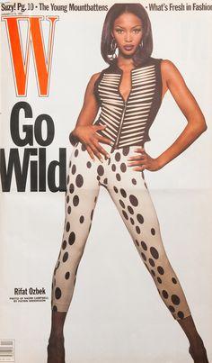 <em>W</em> Magazine's Supermodel Cover Girls - Naomi Campbell on the over of W Magazine January 1992