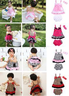 3pcs Girl Newborn Infant Baby Kids Headband+Tank Top+Shorts Bloomers Set Outfit  #DressyEverydayHoliday