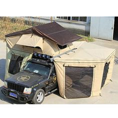 Air conditioner camping roof top tent