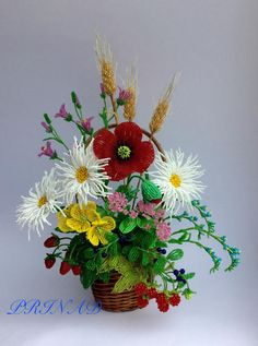 Ягодно-цветочно-полевой роман | biser.info - всё о бисере и бисерном творчестве