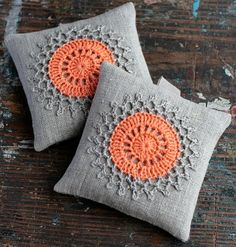Lavender sachets -- crochet motif -- set of 2, by Namolio via Folksy, £12.50
