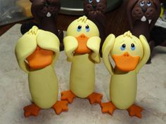 Hear No Evil See No Evil Speak No Evil by ClayCreationsbyLaura, $25.00