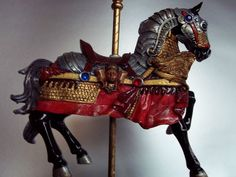 Carousel Horse Knight´s Horse w Musical Box Wind Up Top | eBay