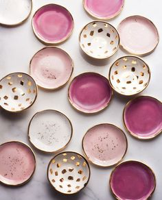 pretty pink trinket dishes