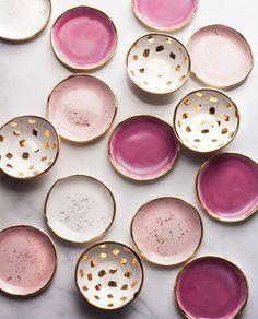pretty pink trinket dishes