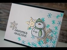 Holiday Card Series 2014 Day #23 - Paper Smooches + My Favorite Things - YouTube