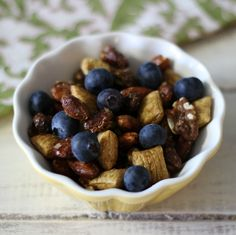 Blueberry Trail Mix is perfect for a 3pm snack! It'll surely keep you full til dinner!