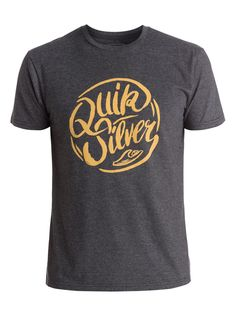 quiksilver, Riverside Tee, CHARCOAL HEATHER (ktah)