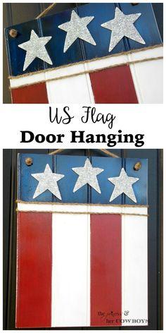 US Flag Door Hanging l The Princess & Her Cowboys