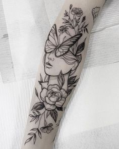 75 Photos of Female Tattoos on the Arm - Pictures and Tattoos ideen arm tattoo feminina - ta Mutterschaft Tattoos, Bild Tattoos, Flower Tattoos, Body Art Tattoos, Female Arm Tattoos, Female Tattoo Sleeve, Half Sleeve Tattoos Forearm, Lower Leg Tattoos, Tree Tattoos