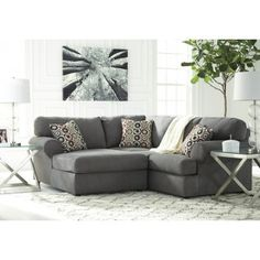 jayceon steel 2 pc laf corner chaise sectional