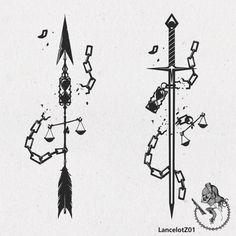 #lancelotz01 #arrow #sword #tattoo