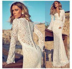 Fabulous Lace Patterned Wedding Dress