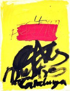 Original Künstler Plakat Tàpies Original Artist Poster Tàpies Affiche original Antoni Tàpies  title Mestres de Catalunya  technology Offset, Original Design