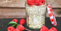 Blog az egészséges és finom ételekről. Chia Puding, Health Eating, Healthy Sweets, Soul Food, Diet Recipes, Raspberry, Paleo, Oatmeal, Vitamins