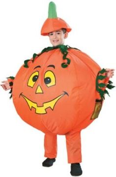 Boys Inflatable Pumpkin Costume - Your little one is sure to be the funniest pumpkin in in the patch when he wears this cool pumpkin costume. The Inflatable Pumpkin Costume includes a headpiece and inflatable jumpsuit with attached battery operated fan. Cute Baby Halloween Costumes, Pumpkin Halloween Costume, Toddler Costumes, Halloween Looks, Halloween Kids, Halloween Pumpkins, Children Costumes, Halloween Parties, Onesie Costumes