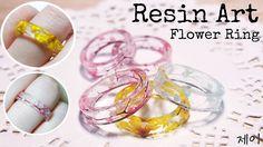 【레진공예】안개꽃 반지 만들기 Resin Art Flower Ring /UV레진 【레진아트】