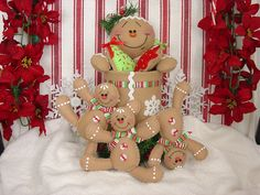 Felt Gingerbread Candy and Cookie Holder. $29.99, via Etsy.