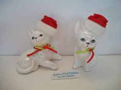 Figurines de chat de Noël de Enesco 1988