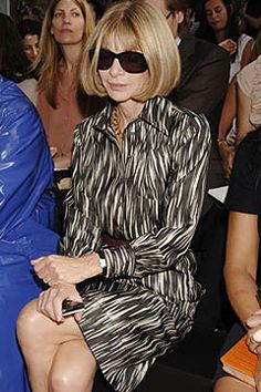 Anna Wintour became editor-in-chief of American Vogue in 1988. Her trademark hairstyle and perma-sunglasses make Anna Wintour unforgettable - regardless of any Hollywood interpretation in The Devil Wears Prada. She played a big role on fostering young talents of Fashion Industry including  Christopher Kane and Jonathan Saunder.
