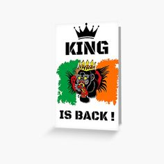 #thekingisback #conormcgregor #ufc #mma #findyourthing #shirtsonline #trends #riveofficial #favouriteshirts  #art #style #design #shopping #redbubble #digitalart #design #fashion #phonecases #customproducts #onlineshopping #accessories #shoponline #onlinestore Conor Mcgregor, Ufc, Sell Your Art, Custom Design, Finding Yourself, Greeting Cards, King, Trends, Accessories