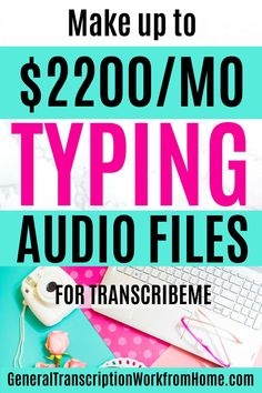 Make up to $2,200 per month typing audio files from home. TranscribeMe Has Work at Home Transcription Jobs for Beginners. No transcription experience required. $15-$22 per audio hour. This is a good transcription company for beginners.Read my review.  #transcription #typingjobs #transcriptionjobs #noexperience #beginners #transcriptionworkfromhome #onlinetranscriptionjobs #remotejobs #onlinejobs #sidehustles #workfromhome #makemoneyonline Transcription Jobs For Beginners, Transcription Jobs From Home, Typing Jobs, Online Jobs, Business Design, Get Started, Make Money Online, How To Get