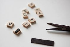 5 Scrabble tile crafts