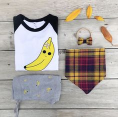 Who else is ready for fall? This plaid bibdana matches perfectly with our Kawaii Banabs Shirt! Kids Fashion, Autumn Fashion, Fabric Bows, Family Outfits, Modern Family, Baby Bows, Girl Style, Toddler Outfits, Kids Girls