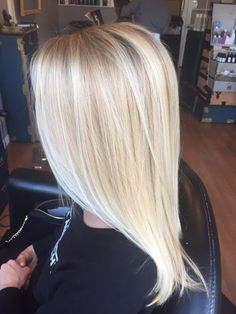 bright blonde balayage