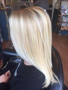 bright blonde balayage @annakatherineh