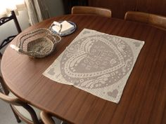 Lace Panel In Vintage Beige Yarn With by Aimezvousclassique