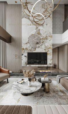 Dream House Interior, Luxury Homes Interior, Interior Design Living Room, Modern Interior, Interior Architecture, Living Room Designs, Living Room Decor, Home Room Design, House Design