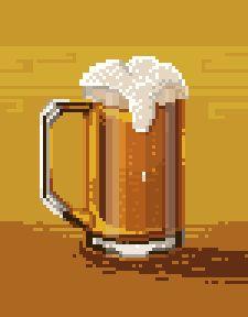 Beer pixel art