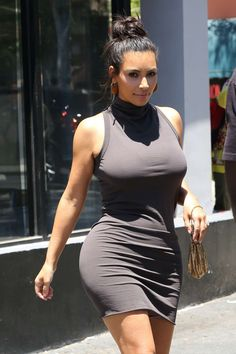 Kim Kardashian in Short Dress out in West Hollywood, July 23, 2016