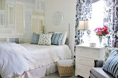 white & blue bedroom | Daily Dream Decor