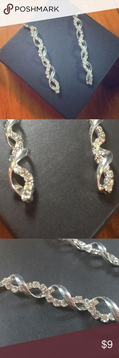 CLAIRE'S: Spiral Wire Earrings Beautiful earrings worn only once for prom. Sanitized and ready for a new home!  Please use the offer button to negotiate pricing.  No trades, PayPal or off-site transactions.  Claire's Jewelry Earrings