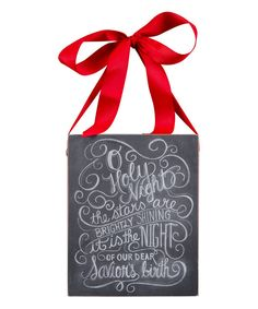 Look at this 'O Holy Night' Chalk Wall Sign on #zulily today!
