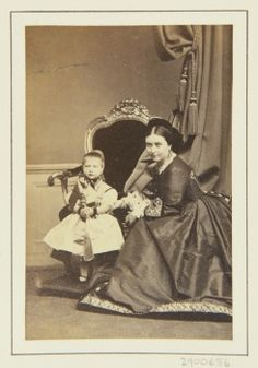 The Crown Princess of Prussia (Princess Royal of England) with her daughter, Princess Charlotte of Prussia