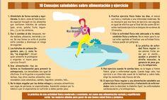 10 consejos saludables sobre alimentación y ejercicio