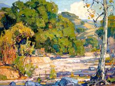 William Wendt Paintings   William Wendt. Laguna Canyon . Oil on Canvas. 18 x 24 in