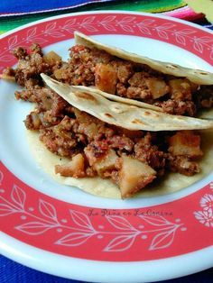 Mom's Picadillo con Papa~Ground Beef in Fresh Tomato Sauce With Potatoes