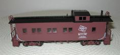 HO-Brass-Overland-Milw-Rd-0558-Wood-Caboose-FP-Red-White-Lettering-Numbers-Mint