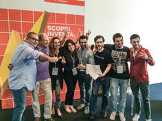 #AUGH team develops 'Tube' for Slamp and wins the #Makerfaire #HACKATHON #HackLiving during the #Innovationweek in Rome