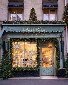 Ladurée Royale- paris decorated for christmas- MY FRENCH COUNTRY HOME Paris Decorated for Christmas- In Paris right now, there is a buzz in the air as the holiday season picks up speed. The temperatures have dropped and. French Country Christmas, My French Country Home, Christmas In Paris, Christmas Travel, Christmas Store, Country Style Homes, Noel Christmas, Christmas Lights, Christmas Decorations